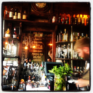 Peruke & Periwig bar counter