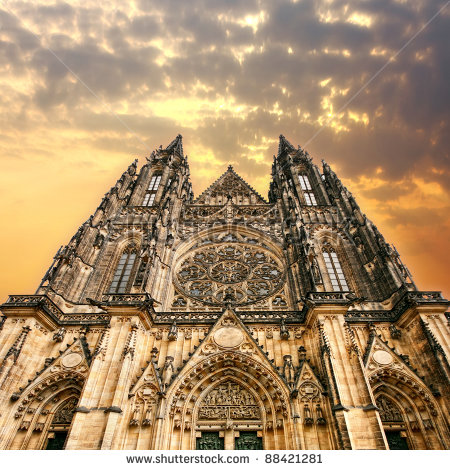 stock-photo-the-gothic-cathedral-in-prague-88421281